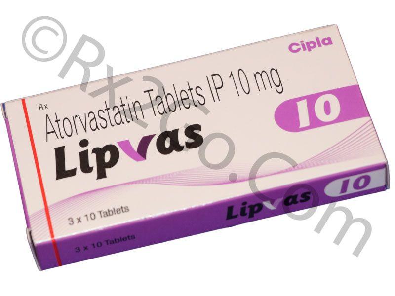 Atorvastatin 10mg (Lipvas-10) by Cipla