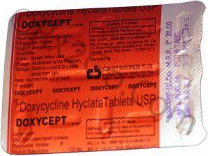 Doxcycline 100mg (DOXYCEPT)