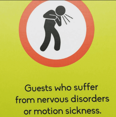 motion sickness and nervous disorder